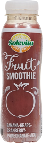 SOLEVITA (LIDL) Smoothie banana grape cranberry pomegranate acai