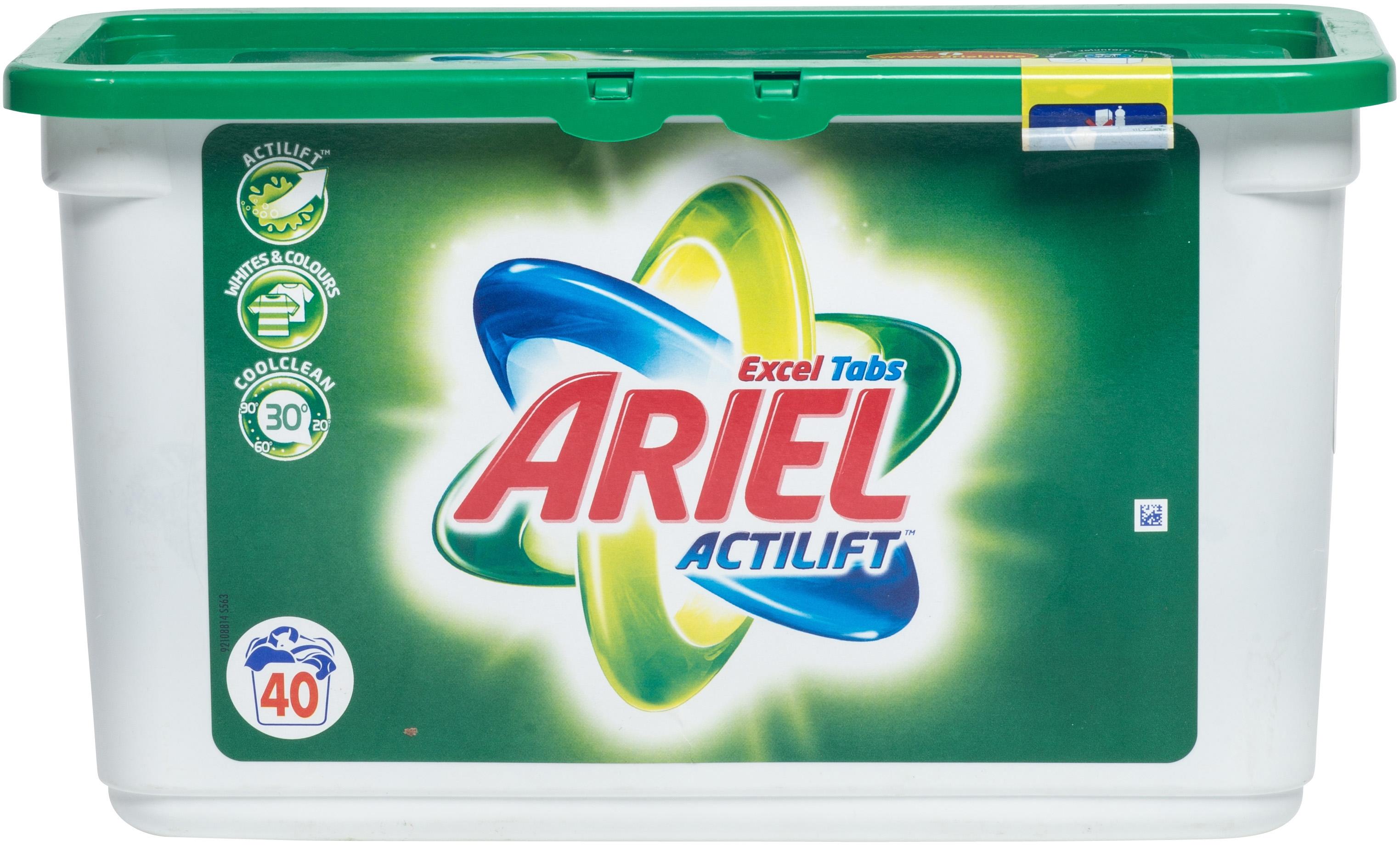 ariel actilift excel tabs test prijzen en specificaties. Black Bedroom Furniture Sets. Home Design Ideas